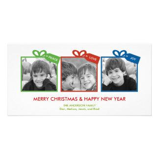 Tarjeta preciosa de la foto de las vacaciones orga tarjetas fotograficas