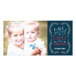 Tarjeta preciosa de la foto del día de fiesta de l tarjetas fotográficas personalizadas