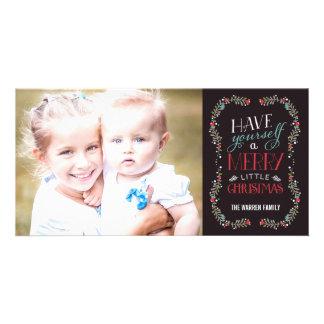 Tarjeta preciosa de la foto del día de fiesta de l tarjeta fotográfica personalizada