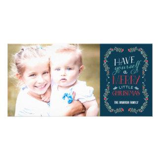 Tarjeta preciosa de la foto del día de fiesta de tarjeta fotográfica