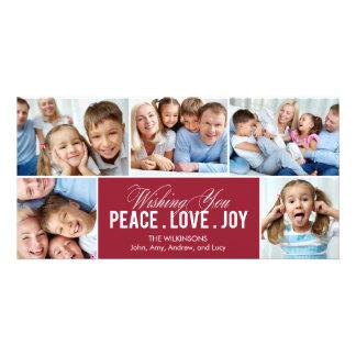 Tarjeta preciosa de la foto del día de fiesta del  tarjeta fotográfica personalizada