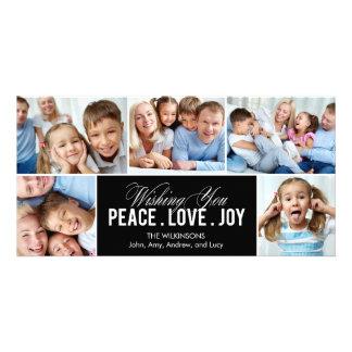 Tarjeta preciosa de la foto del día de fiesta del tarjetas con fotos personalizadas