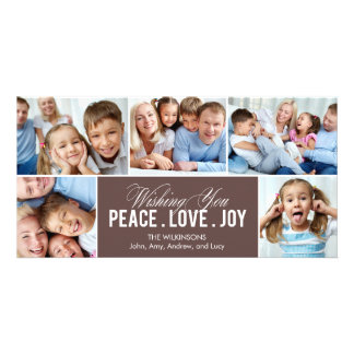 Tarjeta preciosa de la foto del día de fiesta del tarjetas personales