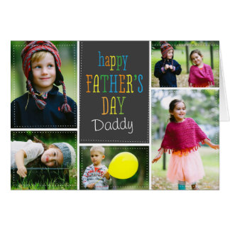 Tarjeta preciosa de la foto del día de padre de lo