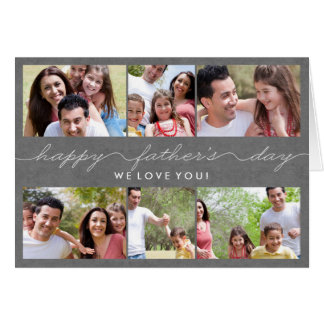 Tarjeta preciosa de la foto del día de padres de