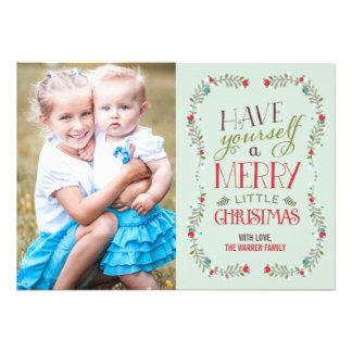 Tarjeta preciosa de la foto del navidad de las gui invitacion personalizada
