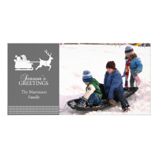 Tarjeta preciosa de la foto del navidad de Santa ( Tarjetas Personales