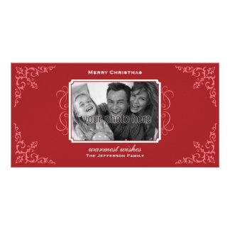 Tarjeta preciosa de la foto del navidad del Flouri Tarjetas Fotograficas Personalizadas