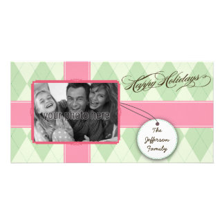 Tarjeta preciosa de la foto del navidad del regalo tarjeta fotografica