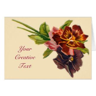 Tarjeta preciosa del personalizable de las flores