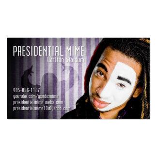 Tarjeta presidencial del Mime Tarjetas De Visita