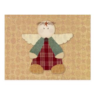 Tarjeta primitiva de la receta del ángel postal