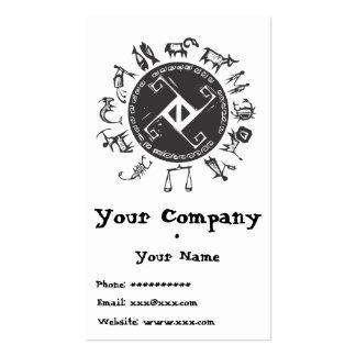 Tarjeta primitiva occidental del zodiaco plantilla de tarjeta de visita