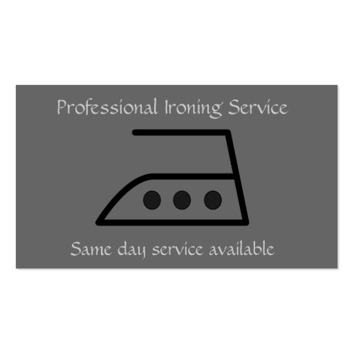 Tarjeta profesional de la empresa de servicios que tarjetas de visita