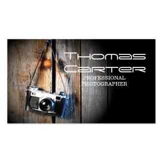 Tarjeta profesional de la foto de la cámara del tarjetas de visita