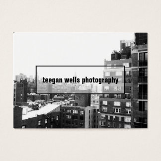 Tarjeta profesional de la foto del fotógrafo de la tarjetas de visita grandes