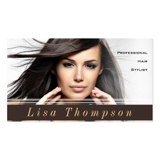 Tarjeta profesional del estilista/del peluquero tarjetas de visita