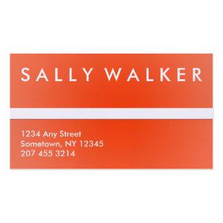Tarjeta profesional del naranja y blanca de visita tarjetas de visita