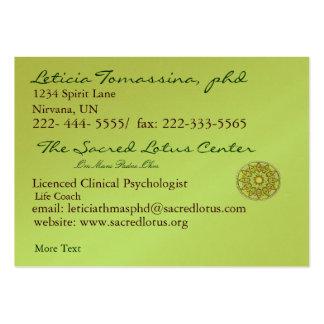 Tarjeta profesional del perfil edad verde de la tarjetas de visita grandes