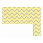 Tarjeta programable amarilla/gris de Chevron moder Postales