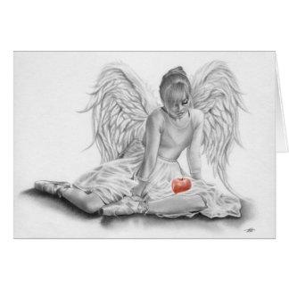 Tarjeta prohibida de la bailarina del ángel