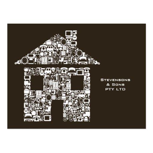 Tarjeta promocional del márketing del negocio case tarjetas postales