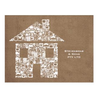 Tarjeta promocional del márketing del negocio case postales
