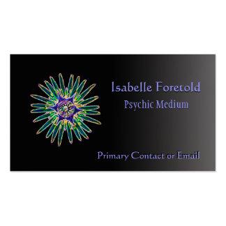 Tarjeta psíquica de los servicios de la flor de ne plantilla de tarjeta personal