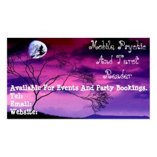 Tarjeta psíquica y de Tarot púrpura del lector de Tarjeta Personal