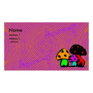 tarjeta psychodelic de la seta tarjetas de visita