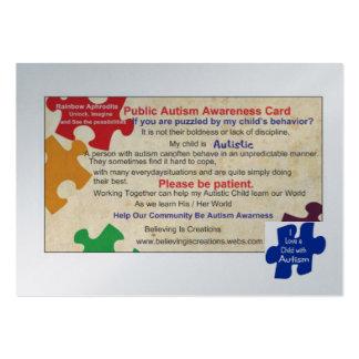 Tarjeta pública de Awarness del autismo Plantillas De Tarjetas De Visita