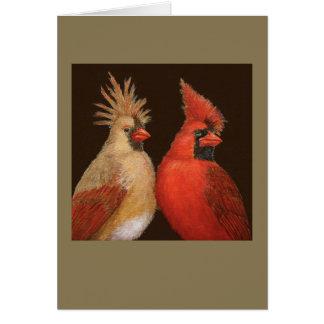 Tarjeta punky de los cardenales
