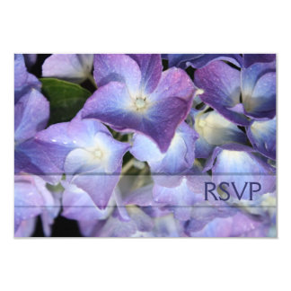 "Tarjeta púrpura azulada de la respuesta de RSVP Invitación 3.5"" X 5"""