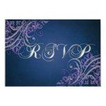 Tarjeta púrpura barroca exquisita de RSVP de la Invitacion Personal