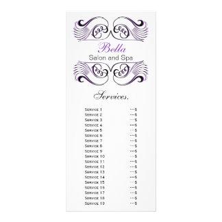tarjeta púrpura, blanco y negro elegante del tarjeta publicitaria personalizada