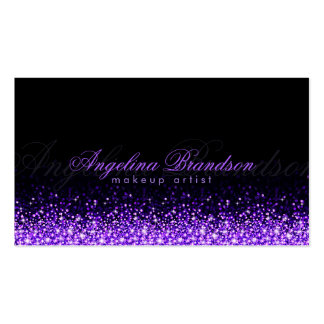 Tarjeta púrpura brillante del negro del damasco tarjetas de visita
