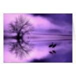 Tarjeta púrpura de la mañana