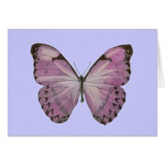 Tarjeta púrpura de la mariposa