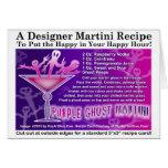 Tarjeta púrpura de la receta de Halloween Martini