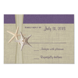 Tarjeta púrpura de la respuesta de Amore de la Invitacion Personalizada