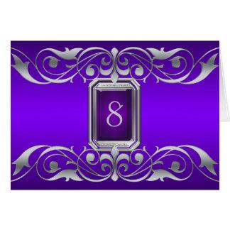 Tarjeta púrpura de la tabla de la plata de la gran