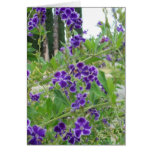 Tarjeta púrpura de las flores