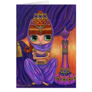 Tarjeta púrpura de los genios