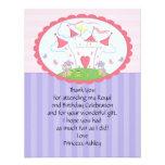 Tarjeta púrpura de princesa Castle Thank You Flat Invitaciones Personales