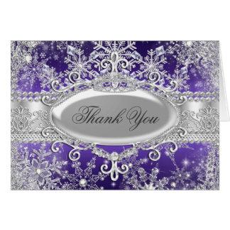Tarjeta púrpura de princesa Winter Wonderland Than