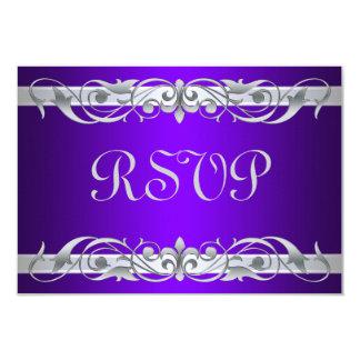 """Tarjeta púrpura de RSVP de la grande duquesa Invitación 3.5"""" X 5"""""""