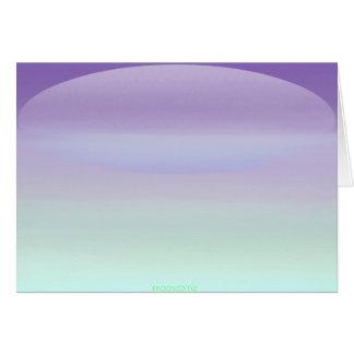 Tarjeta púrpura del amanecer