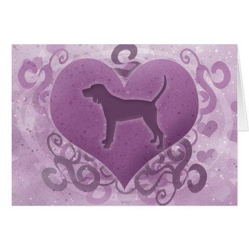 Tarjeta púrpura del el día de San Valentín del Coo