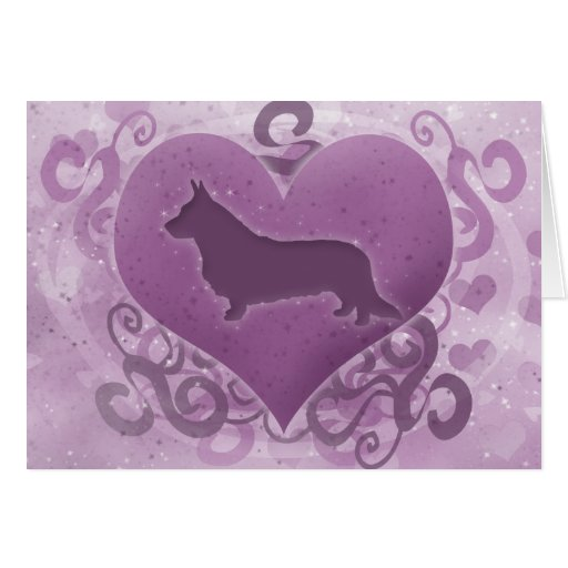 Tarjeta púrpura del el día de San Valentín del Cor
