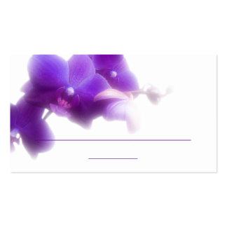 """Tarjeta púrpura del lugar (3,5"""" x 2,0"""", 100 tarjetas de visita"""